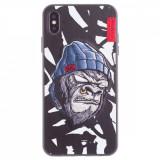Husa Hard iPhone XS Max Gorilla Saru Skinarma Alba