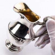 Carafa, cana, letiera din argint masiv 950/1000 Franta cca 1900,marcaj Minerva 1