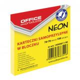 Cumpara ieftin Notite Adezive OFFICE Products, 76x76 mm, 100 File, 70 g/m², Culoare Galben Neon, Notes-uri, Post-it, Articole Hartie, Accesorii Birou