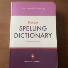 spelling dictionary pocket book penguin reference 2005 carte limba engleza