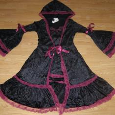 costum carnaval serbare rochie medievala cadana pentru copii de 10-11 ani