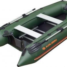 Barca KM-330D + podina rigida tego, intarita cu profil de aluminiu