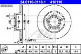 Disc frana AUDI A8 (4D2, 4D8) (1994 - 2002) ATE 24.0110-0116.1