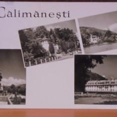 R.P.R. - CALIMANESTI - 4 VEDERI DIN STATIUNE - CIRCULATA, TIMBRATA., Fotografie