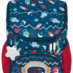 Ghiozdan baieti Mini ergonomic neechipat Little Travelers Bob the Astronaut Tiger