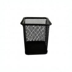 Suport pentru instrumente de scris metalic mesh patrat Forpus 30611 negru