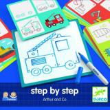 Set creativ pentru baieti - Deseneaza pas cu pas