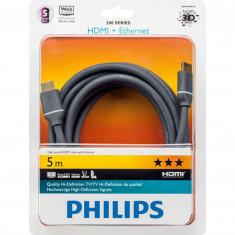 Cablu Philips SWV4434S/10, HDMI cu Ethernet, 5 m, UHD 2160p (4K)