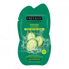 Masca exfolianta pentru ten obosit FREEMAN Renewing Cucumber Peel Off Gel Mask 15 ml