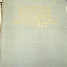 DOCUMENTAR ANALITIC STUDIUL ORDINELOR SI ELEMENTELOR DE ARHITECTURA CLASICA , R. BORDENACHE - H. STERN