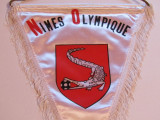 Fanion (vechi-matase) fotbal - Nîmes Olympique (Franta)