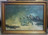 Atacul de la Smardan// copie Nicolae Grigorescu, Arbori, Ulei, Altul