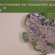Card plastic pentru colectionari RATB Bucuresti