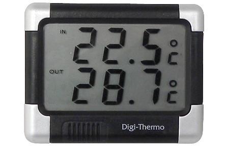 Termometru auto Carpoint interior - exterior cu alerta inghet 7.5 x 6 cm Kft Auto