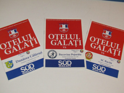 Lot 3 programe meci fotbal OTELUL Galati-Bucovina;-SC BACAU;-DUNAREA Calarasi foto