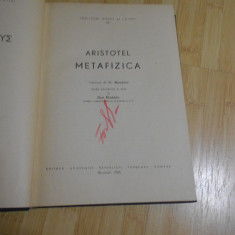 ARISTOTEL--METAFIZICA - 1965