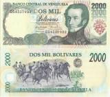 1998 (6 VIII), 2,000 Bolívares (P-77c) - Venezuela - stare UNC