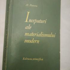 Inceputuri ale materialismului modern, Bacon și Descartes, Al.Posescu