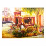 Tablou canvas, model spring café, 70×50 cm, multicolor