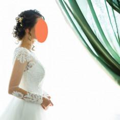 Rochie de mireasa alba, tip printesa, Rochii de mireasa printesa