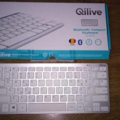 Tastatura Bluetooth Qilive q8112 cu conectivitate bluetooth 3.0 ultra subtire,