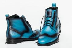 Ghete barbati Francesco Ricotti, culoare albastru, marimea 41 foto