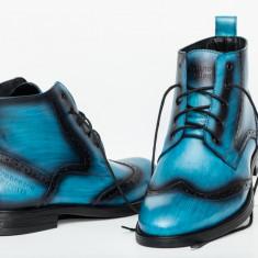 Ghete barbati Francesco Ricotti, culoare albastru, marimea 41