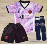 Compleu Echipament fotbal pentru copii JORDAN PSG MBAPPE ultimul model 2021-2022, YXS, Tricou + Pantalon