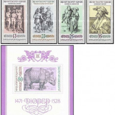 Bulgaria 1979 - Durer, serie+colita neuzata