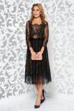 Cumpara ieftin Rochie Ana Radu neagra de lux in clos din dantela captusita pe interior