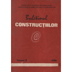 Buletinul constructiilor, vol. 8 (1986)