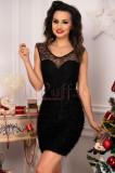 Rochie eleganta neagra scurta cu spatele gol, Escape Star Jeans