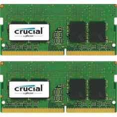 Memorii Laptop Crucial, 16GB(2x8GB), DDR4-2400MHz, 1.2V, CL17