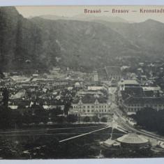 BRASOV - VEDERE GENERALA - CARTE POSTALA ILUSTRATA , MONOCROMA, NECIRCULATA , INCEPUT DE SECOL XX