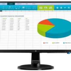 Monitor IPS LED HP 23.8inch N246V, Full HD (1920 x 1080), VGA, DVI, HDMI (Negru)