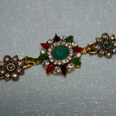 Bratara marcata Ag  925 Hurrem TURKISH Gold Filled RUBIN SMARALD White TOPAZ