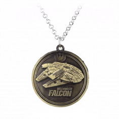 Lantisor Cu Pandantiv Star Wars Millennium Falcon Bronze