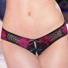 Chilotei Dantela, Negru Cu Roz - M