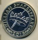 Moneda jubiliara Anglia - 2 lire 2016 - W. SHAKESPEARE - Istoria - UNC, Europa, Cupru-Nichel