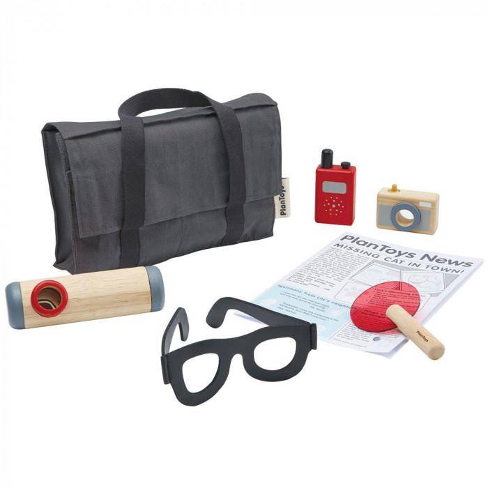 Set de detectiv din lemn - Plan Toys