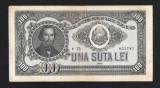 100 LEI - 1952 - SERIE ALBASTRA  , FOARTE FRUMOASA .