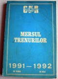 1991-1992 Mersul trenurilor de calatori CFR, Caile Ferate Romane
