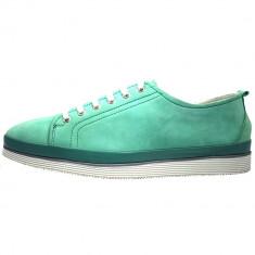 Pantofi dama, din piele naturala, marca Jana, 23608-6, verde , marime: 40, Cu talpa joasa