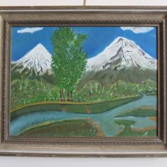 Peisaj – pictură pe pânză, Peisaje, Ulei, Altul