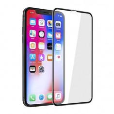 Folie sticla iPhone XS Max 5D Full Glue Neagra