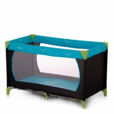 Pat voiaj Dream'n Play, asamblare si pliere usoara, saltea si geanta de transport, Water/Blue