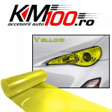 Folie protectie faruri / stopuri (60 x 60 cm) - galben