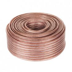 Cablu pentru difuzor, CCA, 4mm², transparent - 402332