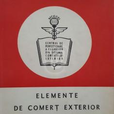 Elemente de comert exterior