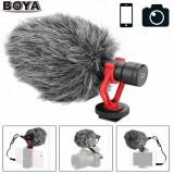 Microfon Boya BY-MM1 cu mufa Jack de 3,5 mm pt. DSLR, Mirrorles, Smartphone